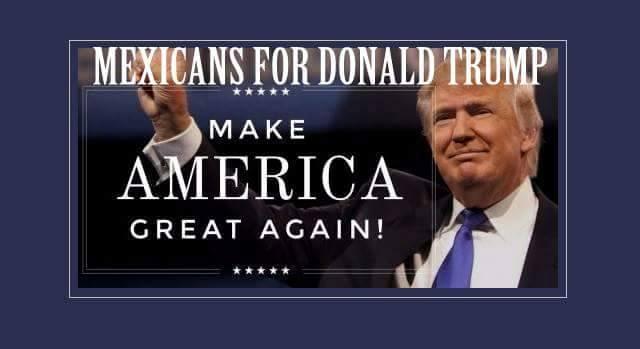 """Foto de fondo en el grupo """"Mexicanos en favor de Trump"""""""